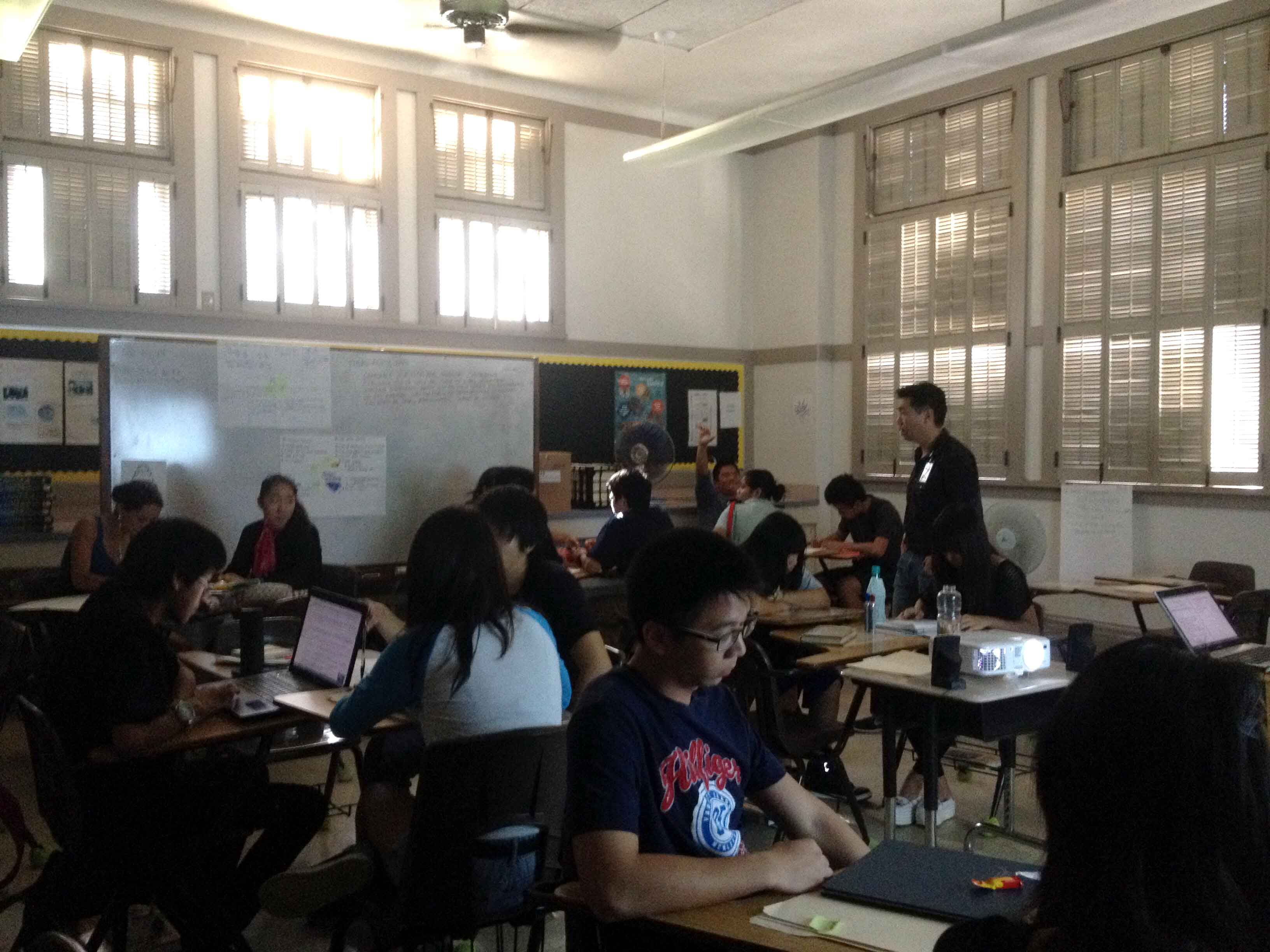 During Thursday's lockdown, all windows and doors had to be closed, but class went on.