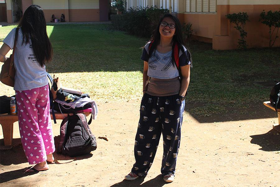 Tigers+around+campus+showed+their+spirit+of+participation.+They+wore+pajamas+to+kick+off+Spirit+Week+today%21