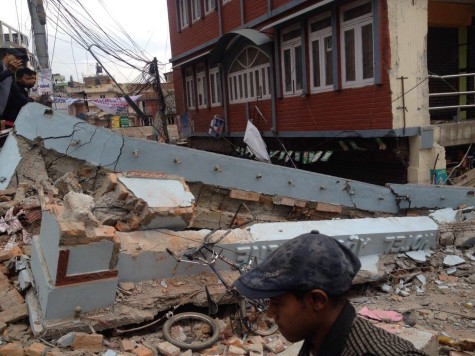 Nepal earthquake destroys city