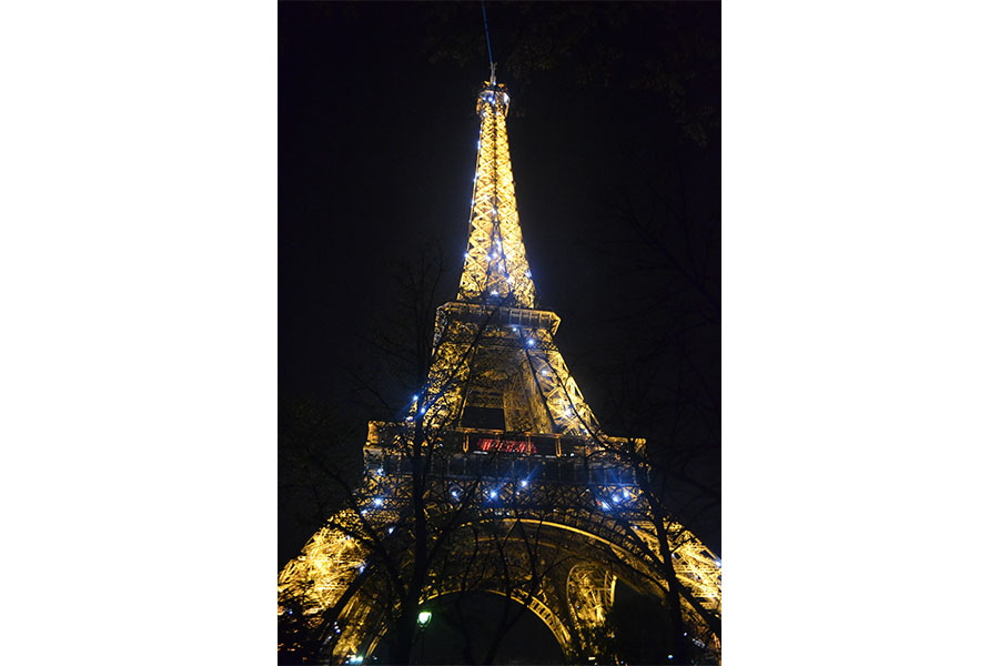 The+Eiffel+Tower+is+located+in+Paris%2C+France+and+named+after+the+en-+gineer+Gustave+Eiffel.+Its+construction+started+on+January+26%2C+1887.+It+is+the+tallest+structure+in+Paris%2C+at+984+feet+high.+At+night%2C+the+tower+is+lit+up+with+thousands+of+bulbs+and+strobes+making+it+a+popular+attraction.+In+1909+the+tower+was+almost+torn+down+but+it+was+saved+because+it+could+be+used+as+a+radiotelegraph+station.