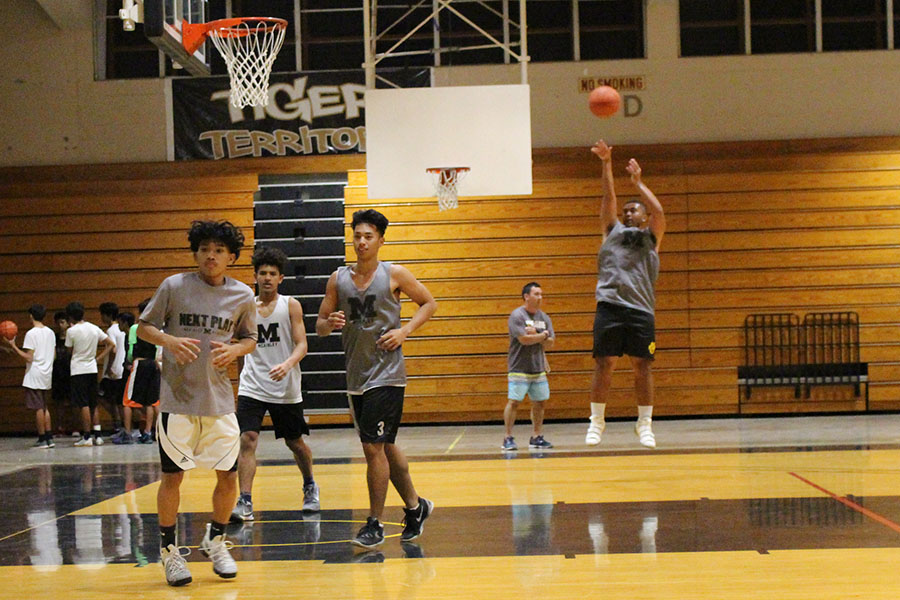 Seniors Hsien Pascua, Kyle Moraga, Caleb Corpening and Taylor