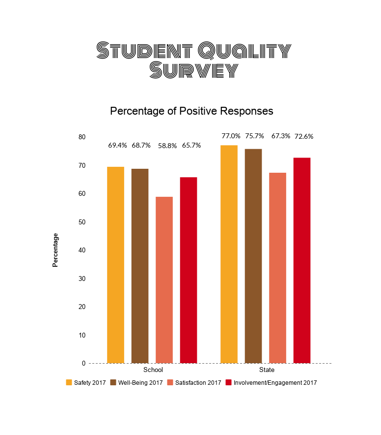 Infographic based on data collected from McKinley High School's Student Quality Survey 2017.