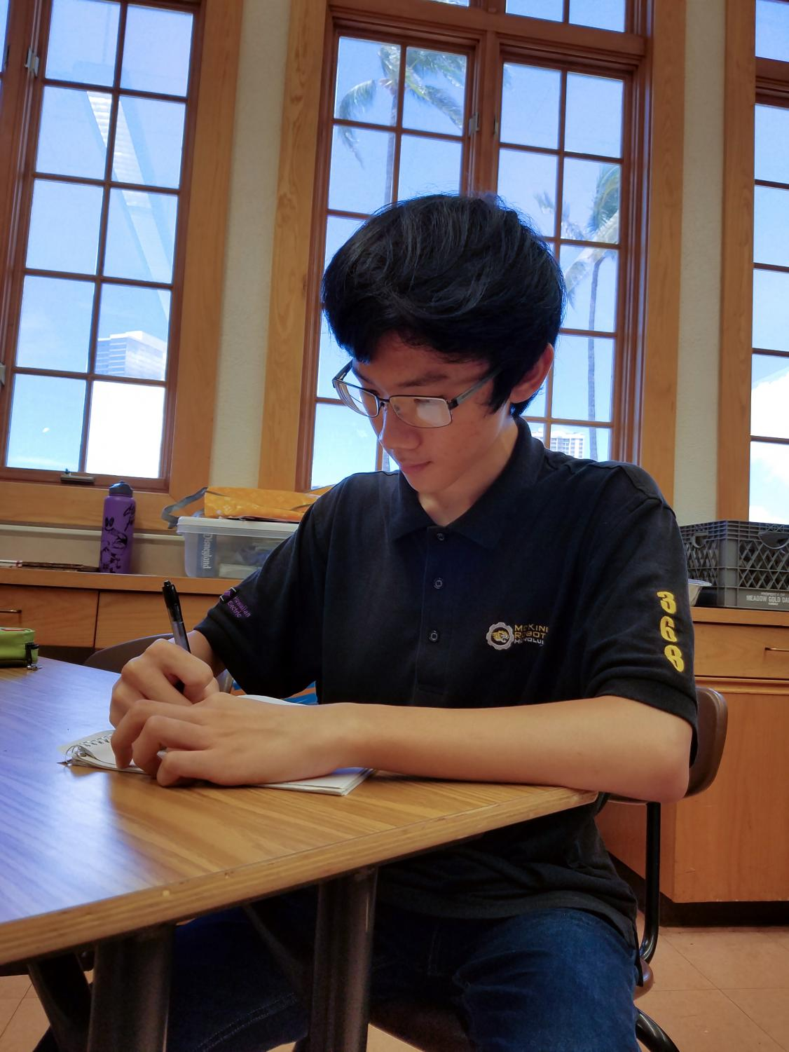Senior Jeremy Xu is a semifinalist for the National  Merit Scholarship competition.