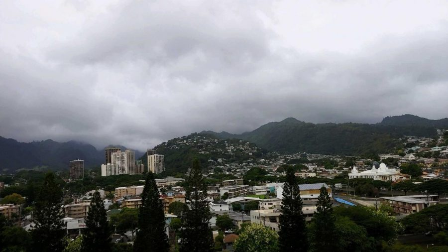 Hurricane+Lane+brought+cloudy+skies+to+Oahu.