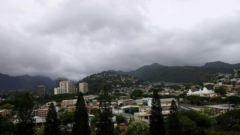 Hurricane Lane brought cloudy skies to Oahu.
