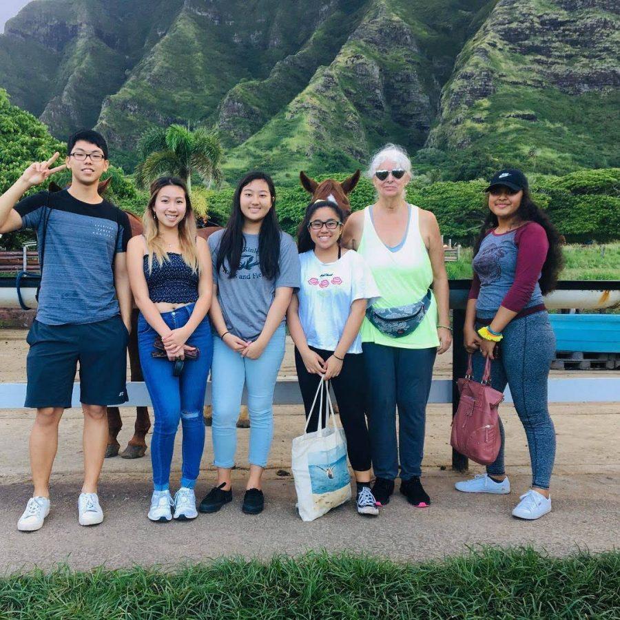 Members+of+Lokahi+take+Aunty+Violet%2C+one+of+the+seniors+at+Kulana+Hale%2C+horseback+riding+to+fulfill+her+Grand+WIsh.+%0Aphoto+contributed+by+Mayele+Bautista