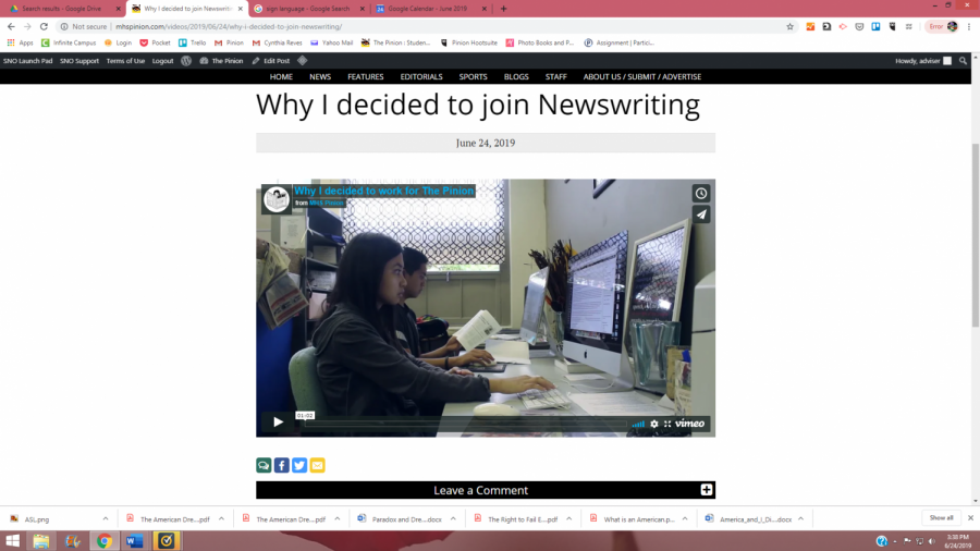 Why I decided to join Newswriting
