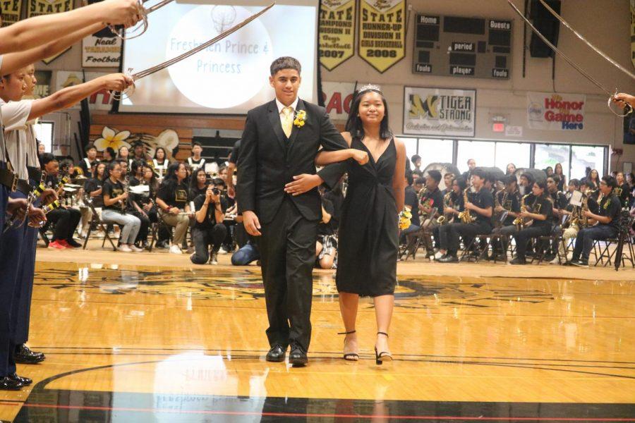 Freshman Prince accompanies Princess Cayenne Dabalos.