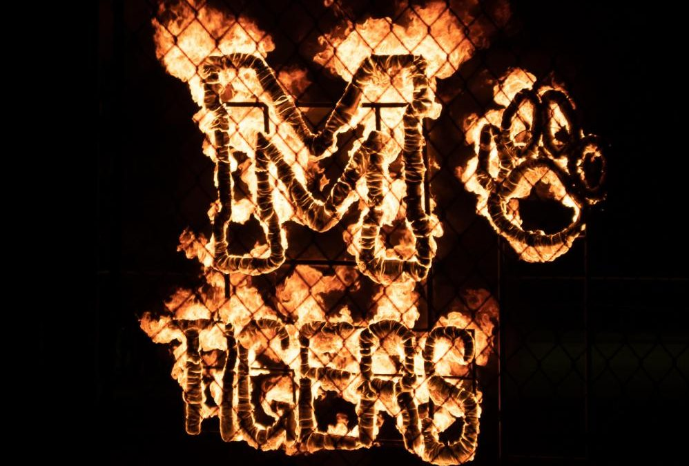 Lighting of the M is a tradition at McKinley and takes place on the Thursday night of Homecoming Week. It's a great way for all the students to come together and celebrate being a Tiger!