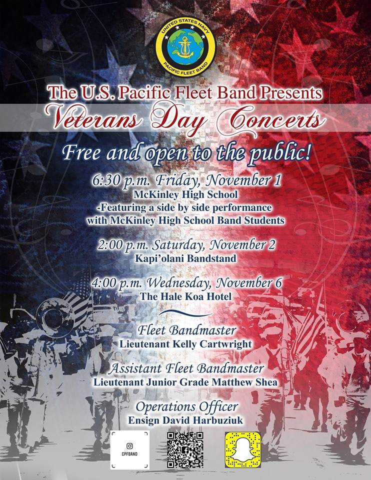 The U.S. Navy Band performed multiple concerts to celebrate Veterans Day.