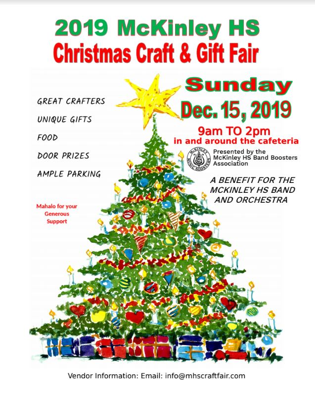 The Craft Fair was presented by the Band Boosters Association to fundraise money for McKinley's band and orchestra program.