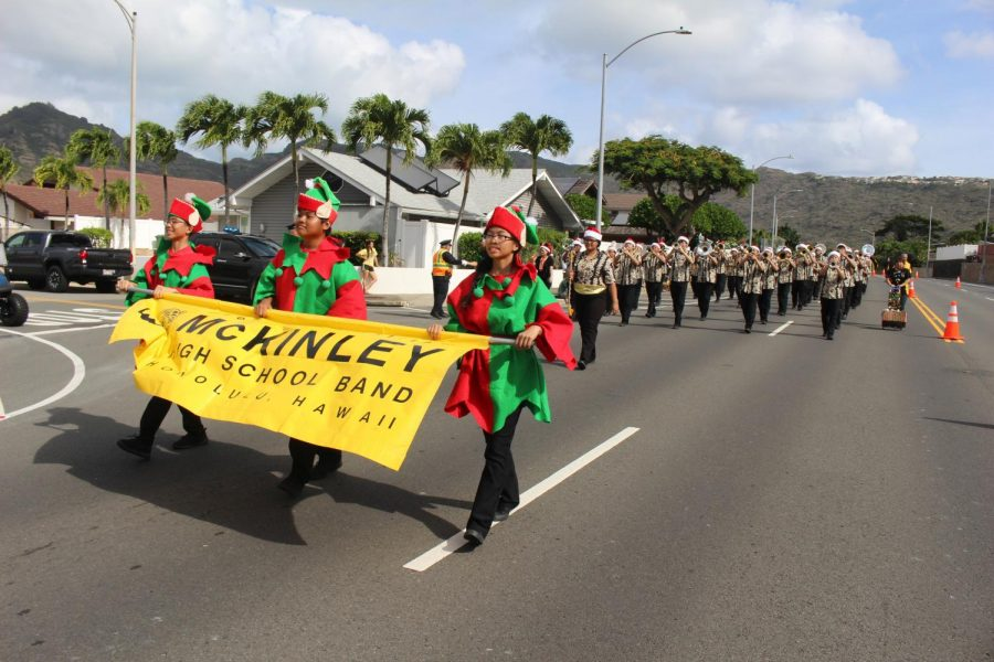 The Hawaii Kai Lions Christmas Parade was organized by the Lions Club of Honolulu.