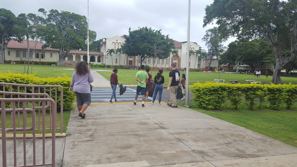 Tiger Interact Club picked up litter around campus and preserved a clean school.