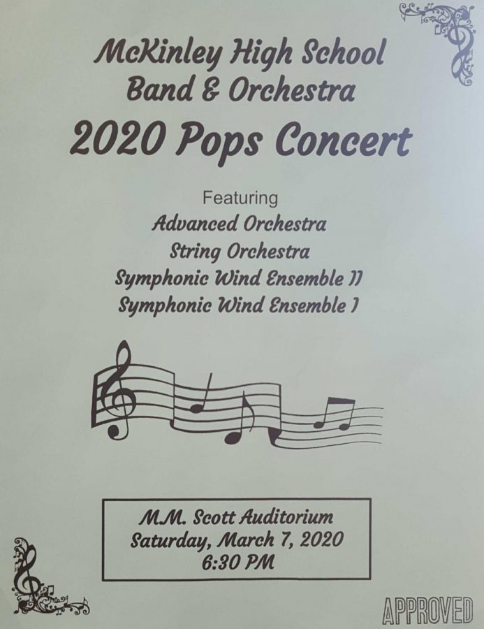 McKinley%27s+band+and+orchestra+performed+their+annual+Pops+Concert+to+familiarize+people+with+popular+music.