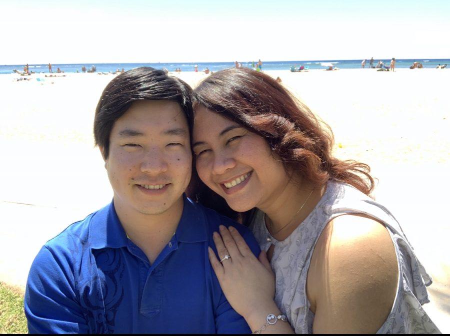 Natasha Taketa got married after the school closure was announced in response to the coronavirus pandemic. She had to adjust her wedding and honeymoon plans. (Left to right) Ivan Mamoru Kim, Natasha Taketa-Kim