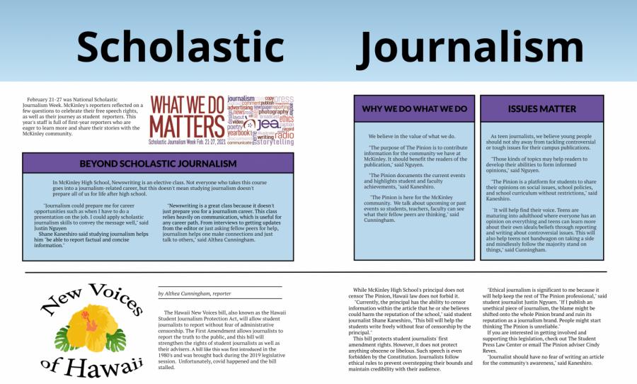Scholastic Journalism Week 2021