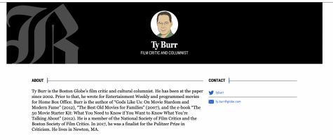 Ty Burr is a movie critic for the Boston Globe.
